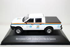 Diecast model car 1/43 Mitsubishi L200 Defesa Civil Rio de Janeiro of Brazil