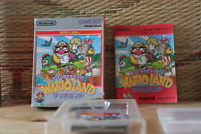 Super Mario Land 3 Wario Land w/box manual Nintendo Gameboy GB VG+!
