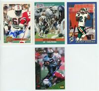 MIAMI DOLPHINS Autographed Football Card Lot - 4 Autos LARRY LITTLE  OFFERDAHL