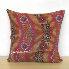 """16"""" Indian Old Vintage Cotton Kantha Square Pillow Cushion Cover Room Decorative"""