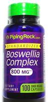 100 Capsules Boswellia Serrata 800mg Complex 600mg 4:1 Extract Joint Health Pill