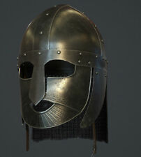 Valasgrade Crusader Viking Armour Helmet W/ Chainmail Wearable Costume Replica