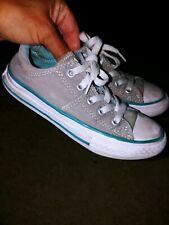 Converse All Star Little Girl Sz. 11 Gray Classic Lace Sneaker. Cute