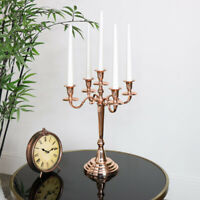 Polished copper metal candelabra candlestick table centre wedding decor gift