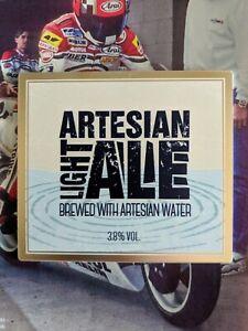 Artesian Light Ale, Brewed with Artesian Water, Beer Pump Badge, Man Cave, Bar