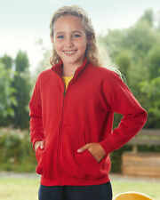 SS221 Fruit Of The Loom Children's Boys Girls Full Zip Sweat Jacket