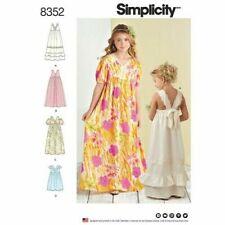 SIMPLICITY Sewing Patterns~8352 Children Child Girls Teens Dress 7-8-10-12-14
