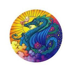 Mandala Arts Magical Dragon Fire 2 Sided High Quality Circle Window Sticker