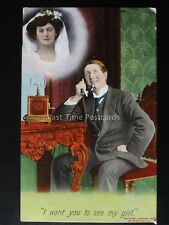 Love & Romance YOUNG MAN ON TELEHONE I Want You To See My Girl c1909 by Bamforth