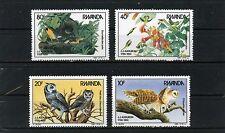 RWANDA 1985 Sc#1226-1229 FAUNA BIRDS SET OF 4 STAMPS MNH