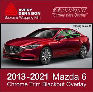 Chrome Delete Vinyl fitting the 2013-2021 Mazda 6 4dr Chrome Trim