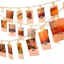 GreenClick Photo String Lights, LED String Lights Indoor 20 LEDs Clips Holder,