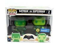 Funko Pop Heroes Batman vs Superman 2 Pack Glows in the Dark GITD Walmart Exclus