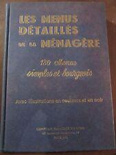 H.-P. Pellaprat: Les menus détaillés de la ménagère/ Comptoir Français du Livre