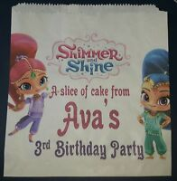 Personalised Shimmer and Shine White Cake / Party Bags