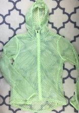 Nike neon yellow Vapor Cyclone Packable Hooded Running Jacket Women's Medium M