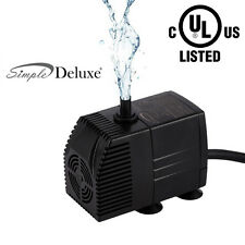 Simple Deluxe 120-1000 GPH Submersible Fountain Pond Pump, Hydroponic, UL Listed