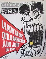 CHARLIE HEBDO N° 487 de MARS 1980 MARCHAIS LA DENT EN OR ARRACHEE A UN JUIF 1944