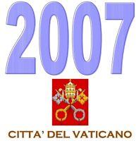 VATICANO 2007 -  Emissione Interi Postali