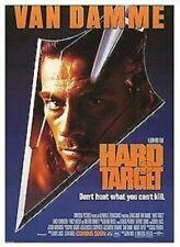 HARD TARGET MOVIE POSTER ~ ARROW 26x38 Jean-Claude Van Damme John Woo