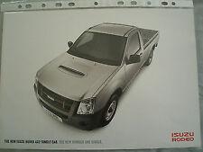 Isuzu Rodeo 4x2 Single Cab brochure 2008