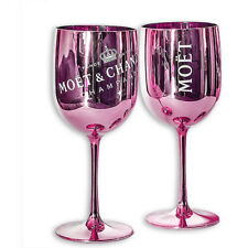 More details for moet & chandon pink ice imperial acrylic champagne glasses - set of 2