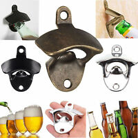 Bronze Metal Wall Mounted Beer Wine Bottle Cap Bar Opener Bar Kitchen Tool