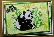 Handmade Birthday Card Panda theme 7x5inches