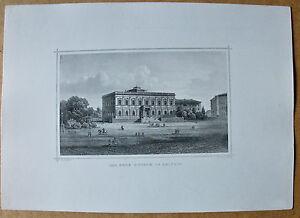 Leipzig - Das neue Museum - Stich, Stahlstich von J.Kolb nach Lange um 1870