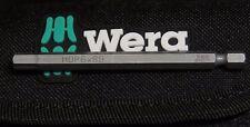 """WERA 89MM HEX PLUS 6mm  HOP 6  ALLEN KEY SOLID Screwdriver bit 1/4"""" Hex"""