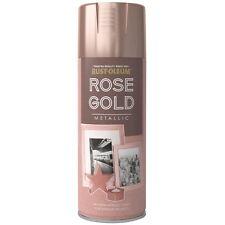 x2 Rust-Oleum Multi-Purpose Premium Spray Paint 400ml Metallic Rose Gold