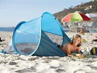 Pop Up Strandmuschel Rot Wurfzelt Strand Zelt Wind- Sonnenschutz UV Schutz