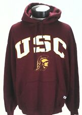 USC Trojans Hoodie RUSSELL ATHLETIC Sweatshirt VTG Pullover Football sz XL RARE