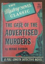 Case of the Advertised Murders  - Minna Bardon 1939 Mystery Novel Classic No. 42