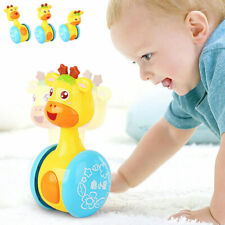 Baby Rattles Tumbler Doll Toys Bell Music Toys Gifts for 0-12 Months