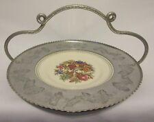 Vintage Triumph Limoges Imperial Victorian Basket Platter Farberware Aluminum US