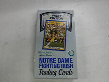 First Edition Notre Dame Trading Cards Collegiate Collection Box & 36 Packs jh24