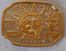 Belt Buckle Statue of Liberty 100 years of Liberty diamond inset Excellent