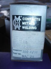CMW MA -25 SPOT WELDING TIPS/ELECTRODES 100 PER BOX -NEW