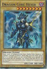 YU-GI-OH CARD: DRAGON CORE HEXER - RARE - INOV-EN001 - 1st EDITION