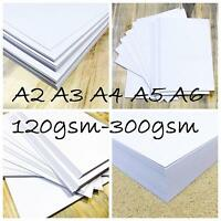 A3 A4 A5 WHITE CARD BLANKS CRAFT MAKING DECOUPAGE TAG STOCK PAPER PRINTER 300gsm