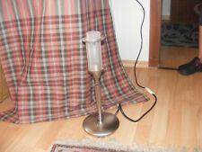 schöne ältere Edelstahl Schreibtischlampe Art Deco Stil voll funktionstüchtig