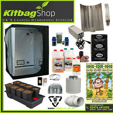 hydroponics system complete grow kit wilma 8 plant light tent canna feed fan 1.2