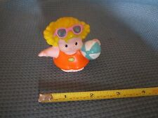 Fisher Price Little People beach vacation swim Sara Lynn orange shirt ball girl