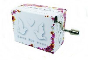 Mini Barrel Organ Wedding March Pigeons Musicboxes Box Fridolin Crank Mechanism