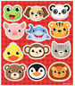 6 Animal Sticker Sheets - Pinata Toy Loot/Party Bag Fillers Wedding/Kids
