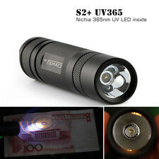Convoy S2+ Nichia 365nm UV LED OP Reflector Flashlight Agent Detection Fluoresce