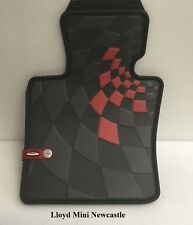 Genuine Mini JCW  Pair of FRONT All-weather floor mats! For F56! LEFT HAND DRIVE