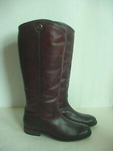 NIB Frye Women's Riding Boots Wine Melissa Button 2 Extended Calf 75448 Sz 7.5
