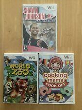 New listing Nintendo Wii World of Zoo, Cooking Mama, and Shawn Johnson Gymnastics